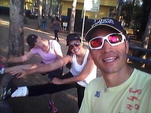 Fisioterapeuta monta grupo de corrida para incentivar prática em RO (Foto: Helton Vieira/Facebook)