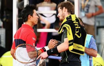 Andy Murray e Nishikori travam duelo principal na 1ª fase do Grupo Mundial