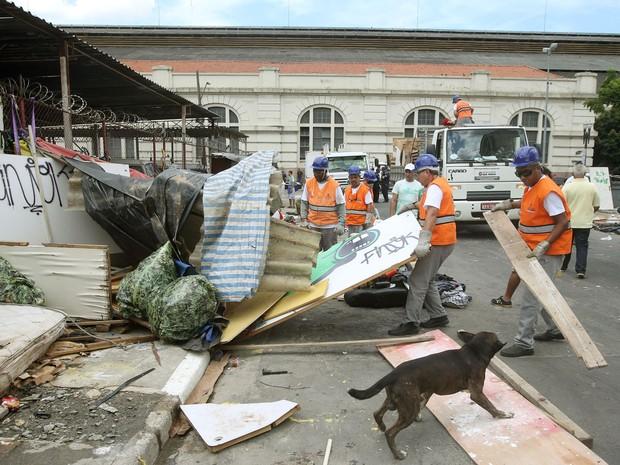Prefeitura de São Paulo começou a remoção de barracos instalados na Cracolândia, no centro de São Paulo. (Foto: José Patrício/Estadão Conteúdo)