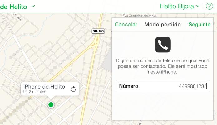 Digite um número para contato (Foto: Reprodução/Helito Bijora)  (Foto: Digite um número para contato (Foto: Reprodução/Helito Bijora) )