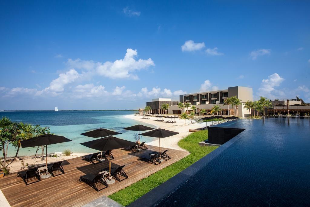 Resort de luxo que filhos de Claudia Raia e Edson Celulari ficaram hospedados em Cancún, no México (Foto: Reprodução/site)