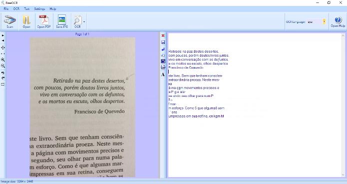 O Free OCR é ideal para trabalhar editar o texto extraído de imagens (Foto: Reprodução/Daniel Ribeiro)