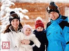 Príncipe William e Kate Middleton curtem viagem em família nos Alpes