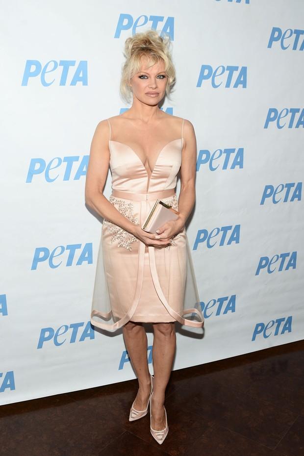 Pamela Anderson em evento em Los Angeles, nos Estados Unidos (Foto: Matt Winkelmeyer/ Getty Images/ AFP )