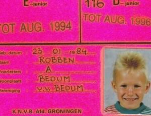 Robben criança carterinha Sportvereniging (Foto: Reprodução Internet)