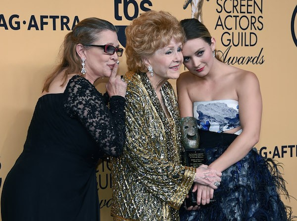 Carrie Fisher, Debbie Reynolds e Billie Lourd (Foto: Getty Images)