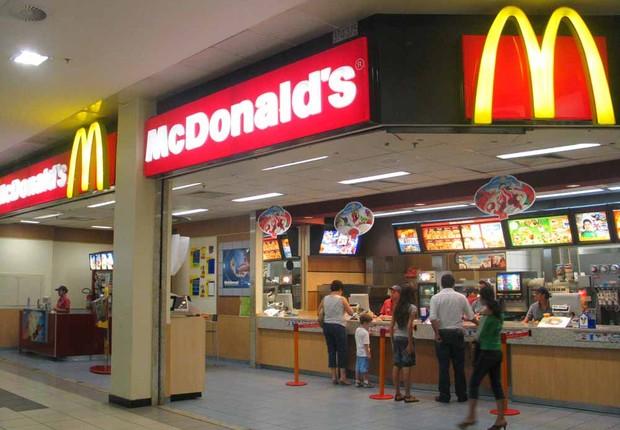 Lanchonete da rede de fast food McDonald's no Brasil (Foto: Reprodução/Facebook)
