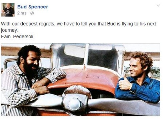 Bud Spencer (Foto: Facebook / Reprodução)