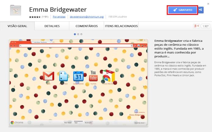 Alterando o tema do navegador Google Chrome (Foto: Reprodução/Lívia Dâmaso)