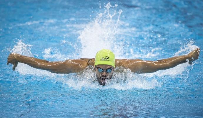 Andre Brasil evento-teste natação paralímpica 100m borboleta (Foto: Marcio Rodrigues/MPIX/CPB)