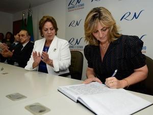 Shirley Targino assume a Secretaria de Trabalho e Assistência Social do RN (Foto: Elisa Elsie)