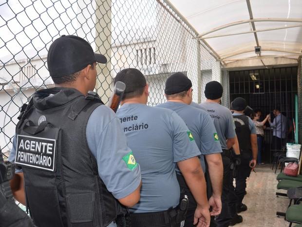 os agentes penitenciários poderão trabalhar até 60 horas extras por mês (Foto: Sejus/Divulgação)