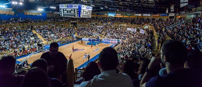 Ginásio Pedrocão Franca Basquete (Foto: Newton Nogueira)