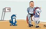 Cavalo é o novo símbolo da  Liga Sorocabana de Basquete (Arte / Clayton Esteves)