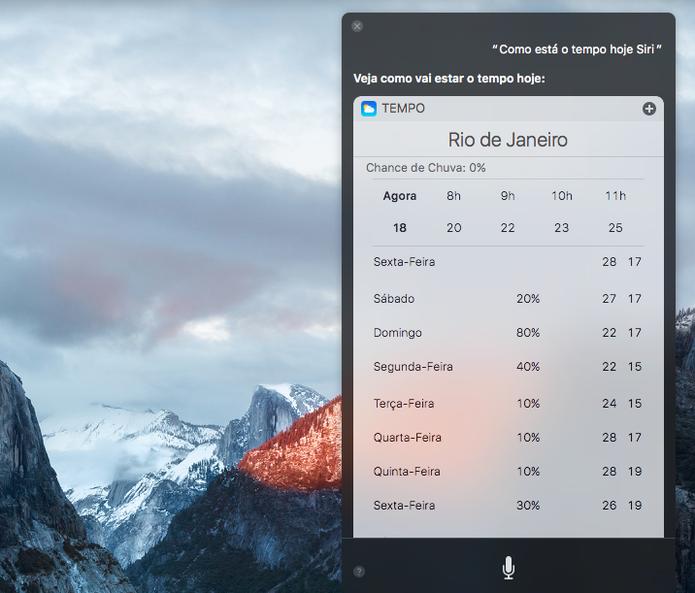 Inclusão da Siri é uma das novidades do macOS Sierra (Foto: Reprodução/Felipe Vinha)