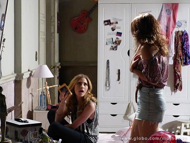 Sofia arma para Anita, mas não prevê a reação dela (Foto: Malhação / TV Globo)
