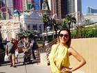 Aniversariante do dia, Andressa Urach curte Las Vegas