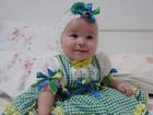 Solange Almeida posta foto da filha enfeitada com as cores do Brasil
