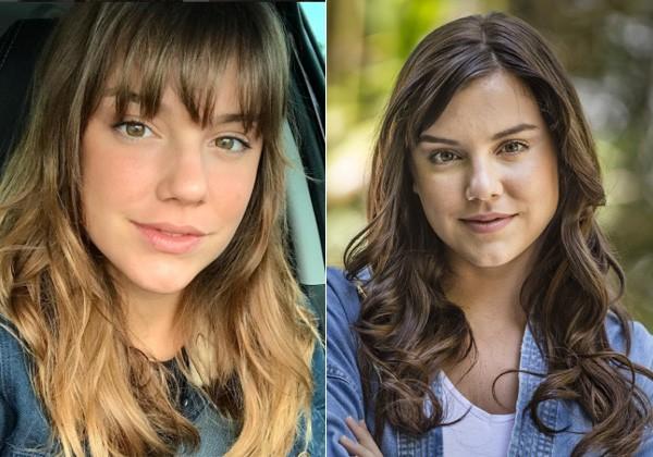 Alice Wegmann antes e depois (Foto: Reprodução/Instagram/Divulgação/TVGlobo)