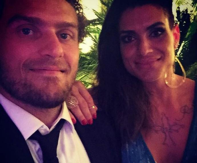 Tatiana e o marido Fernando Rebane em festa (Foto: Arquivo pessoal)