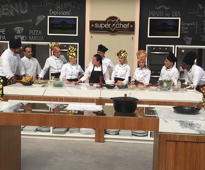 Workshop sobre feijão com a chef Janaina Rueda (Foto: Ícaro Martins/Gshow)