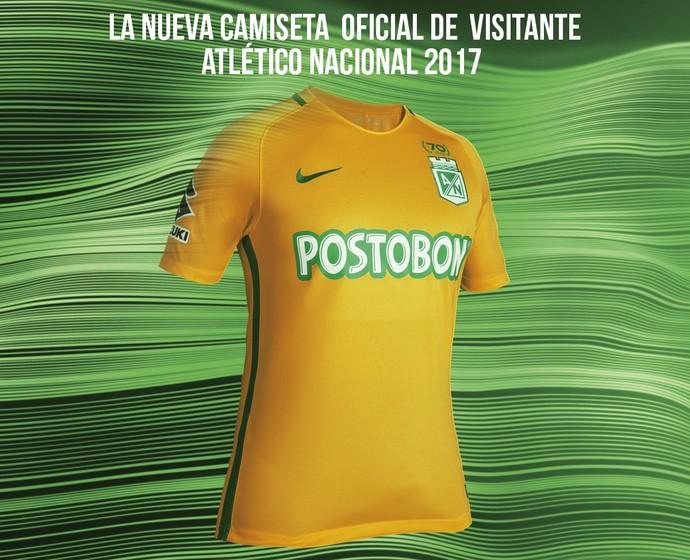 novo uniforme Atlético Nacional (Foto  Divulgação) 865db75c0d608