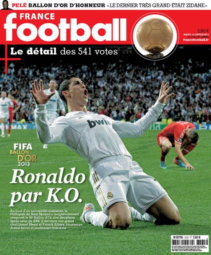 Capa da France Football com Cristiano Ronaldo