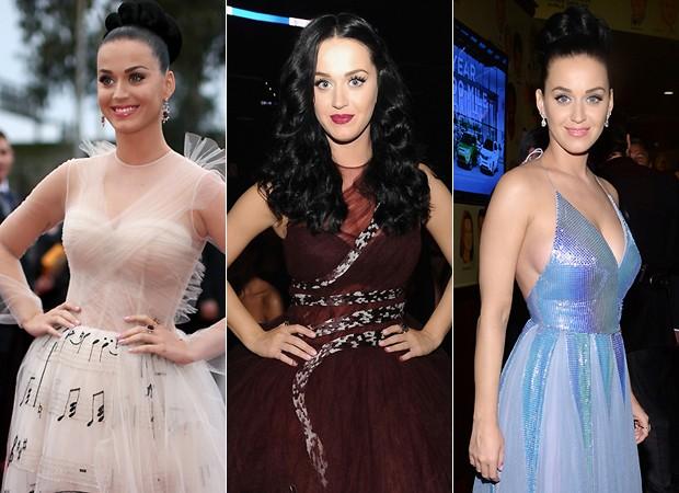 Katy Perry usa quatro looks diferentes na noite do Grammy Awards