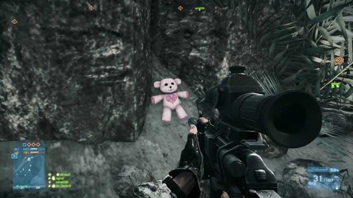 Ursos estão espalhados em BF3 (Foto: Reprodução/Youtube)
