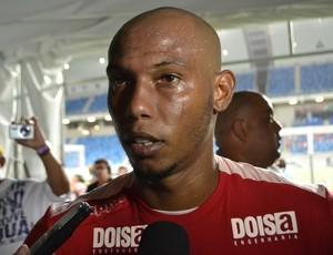 América-RN x ABC - Flávio Boaventura, zagueiro do América-RN (Foto: Jocaff Souza/GloboEsporte.com)