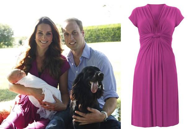 Kate Middleton, príncipe William e o pequeno príncipe George (Foto: Michael Middleton / Divulgação)