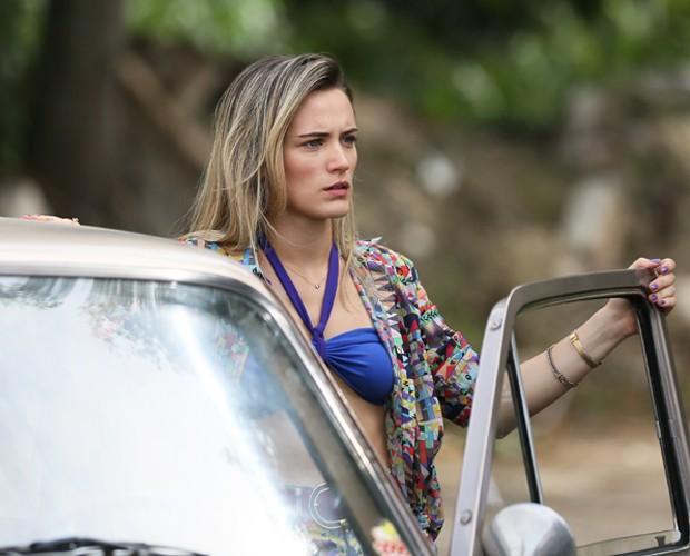 Bianca Bin em seus últimos momentos como Vitória (Foto: Isabella Pinheiro/Gshow)