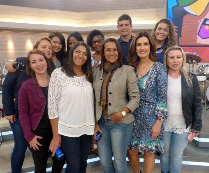 Mais plateia do programa com a Fátima  (Foto: Carolina Morgado/Gshow)