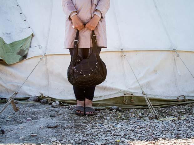 Aboessa, de 20 anos, fugiu de campo de refugiados na Síria  (Foto: Tyler Jump/International Rescue Committee)