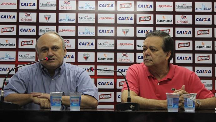Valdivino de Oliveira e Jovair Arantes (Foto: Fernando Vasconcelos / Globoesporte.com)