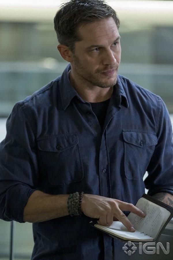 O ator Tom Hardy na primeira imagem divulgada de seu personagem no filme do personagem Venom (Foto: Divulgação)