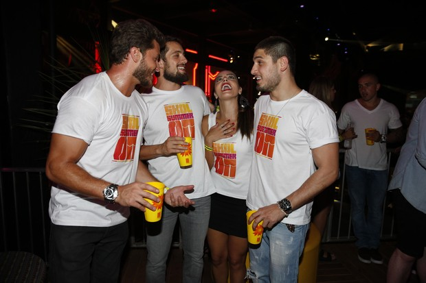 Klebber Toledo, Rafael Cardoso, Giovanna Lancellotti e Daniel Rocha (Foto: Felipe Panfili / AgNews)