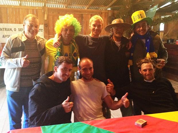 Alemães acompanharão a partida no Acampamento Farroupilha (Foto: Guilherme Pontes/G1)