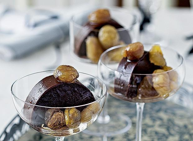 Terrine de chocolate e crème de marron (Foto: Cacá Bratke/Editora Globo)