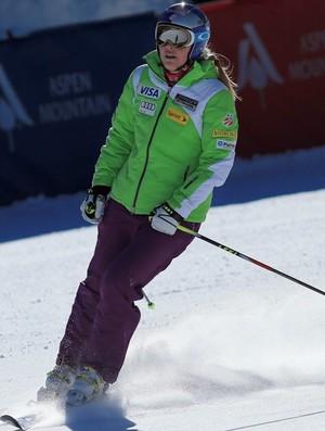 esqui alpino Lindsey Vonn treina para a Copa do Mundo de Aspen (Foto: Getty Images)