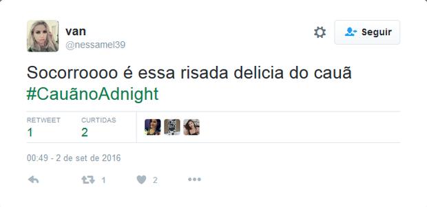 Internautas repercutem participação de Cãua Reymond no Adnight (Foto: Reprodução/Instagram)