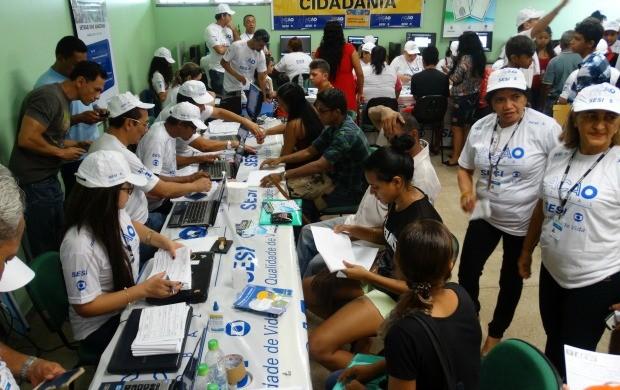 Serviços de saúde, cidadania e lazer foram oferecidos a população de Presidente Figueiredo (Foto: Onofre Martins/Rede Amazônica)