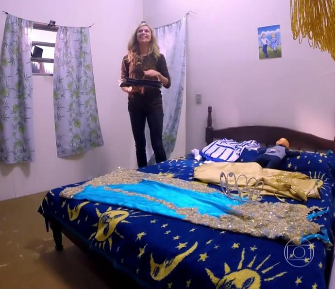 O quarto da infância de Grazi foi reconstruído pela equipe do programa (Foto: TV Globo)