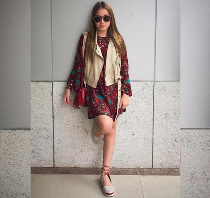 Gigi com vestido de colete no Rio de Janeiro (Foto: Reprodução Redes Sociais )