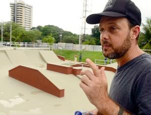 Brasileiro de skate pro em Manaus - Marcelo Santos (Foto: Mauro Neto/Semjel)