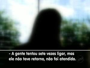 Moradora reclama do serviço de atendimento do 190 em Araraquara, SP (Foto: Reprodução/EPTV)