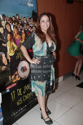 Debora Lamm na estreia do filme Muita Calma Nessa Hora 2 (Foto: Isac Luz / EGO)