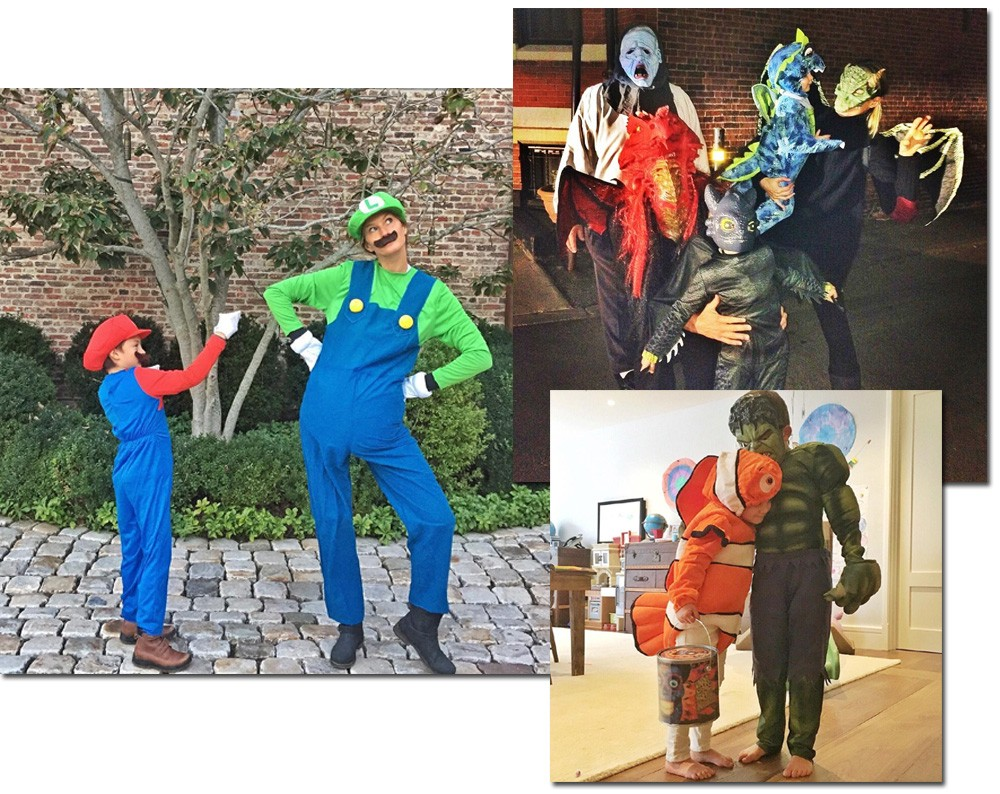 Versão bem-humorada com as fantasias caprichadas para o Halloween na companhia dos filhos e do enteado (Foto: Reprodução/Instagram)