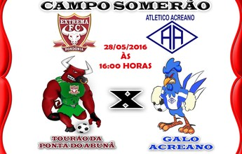 Campeão acreano, Atlético-AC faz amistoso com Extrema-RO no sábado