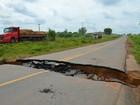 Reparo da cratera na BR-364, em Rondônia, ainda não começou